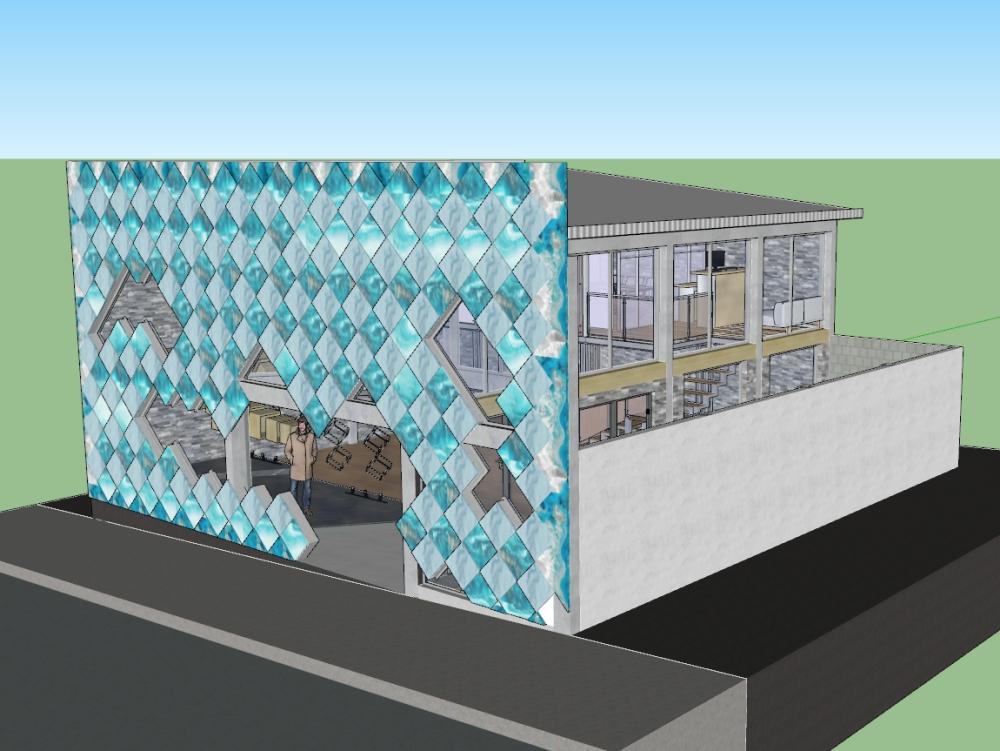 Facade design of a clothing store