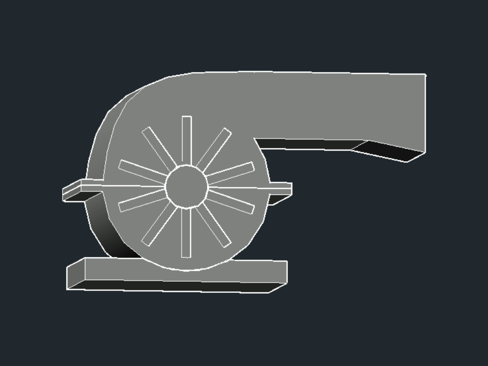 Industrial blower for cyclone dwg