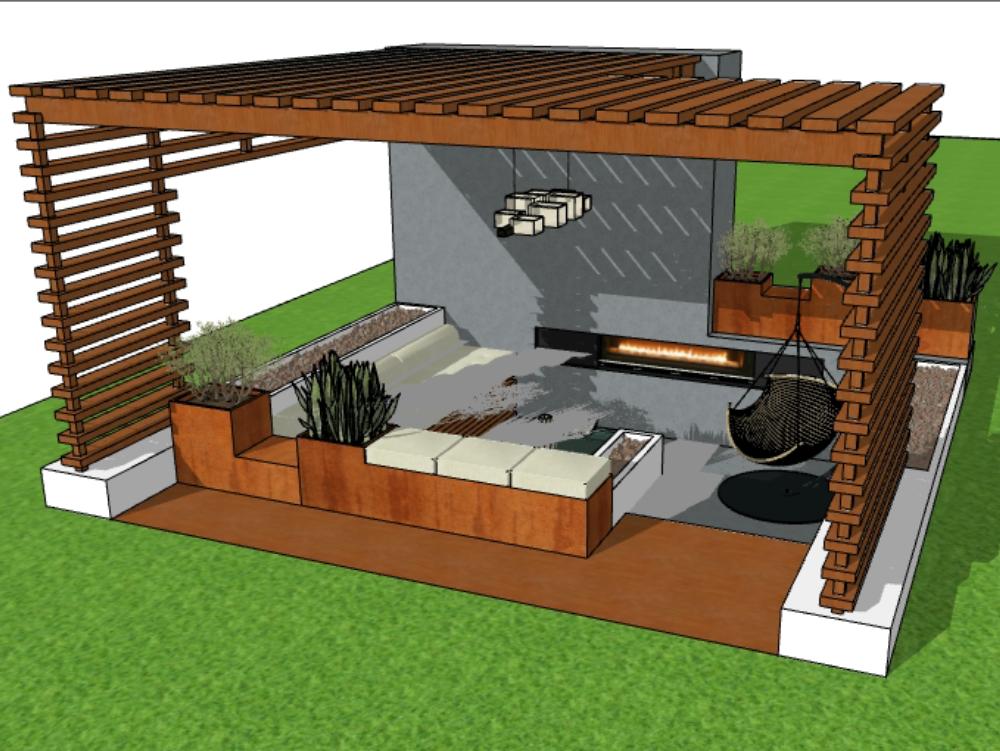 Pergola terrace 5m x 5m