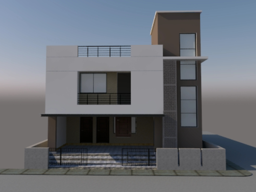 Residence building sketchup model
