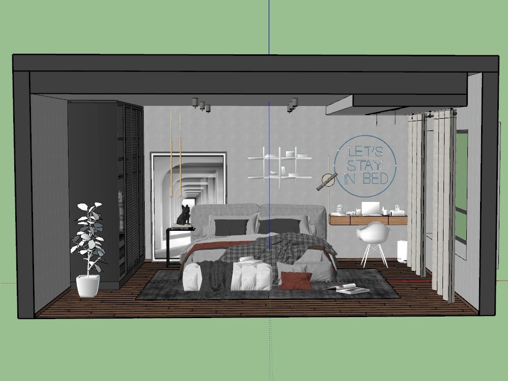 Simple bedroom modeling