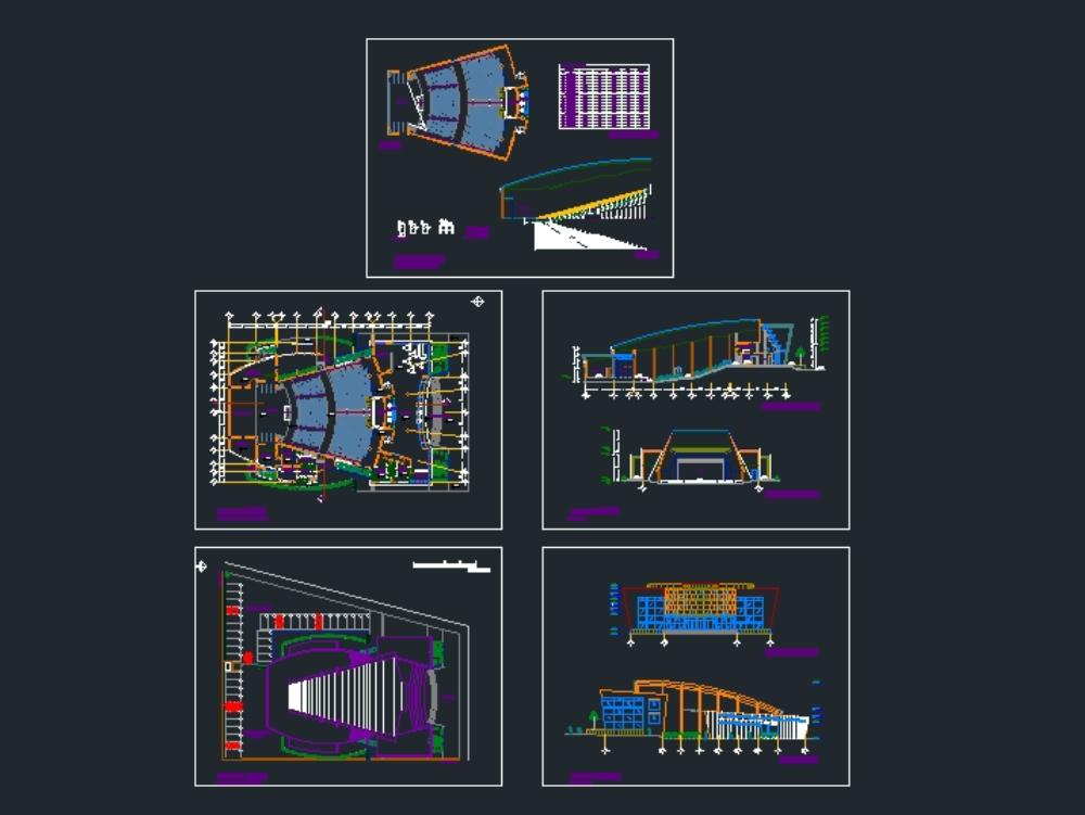 Planos de un teatro