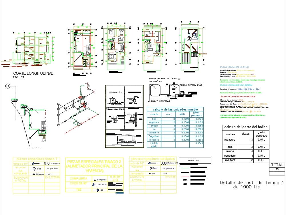Installation plan with installation isometrics