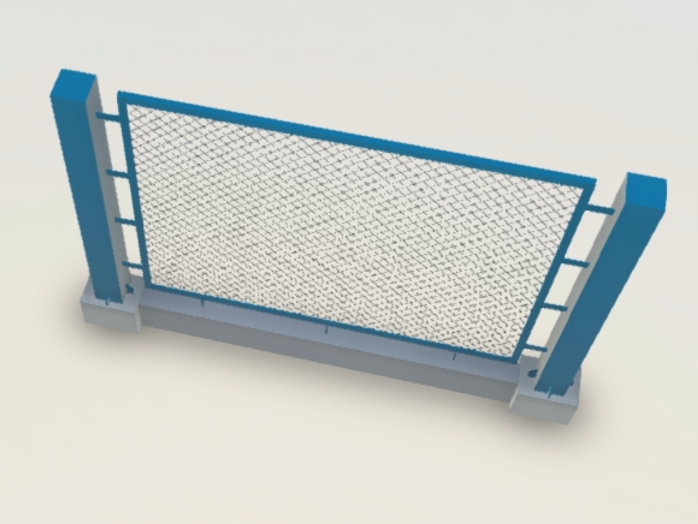 Metal fence for perimeter fence