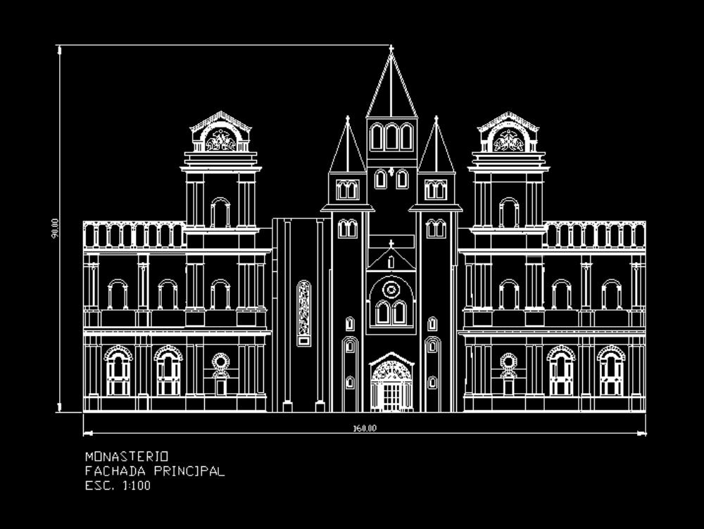 Fachada de edificio bizantino con gotico