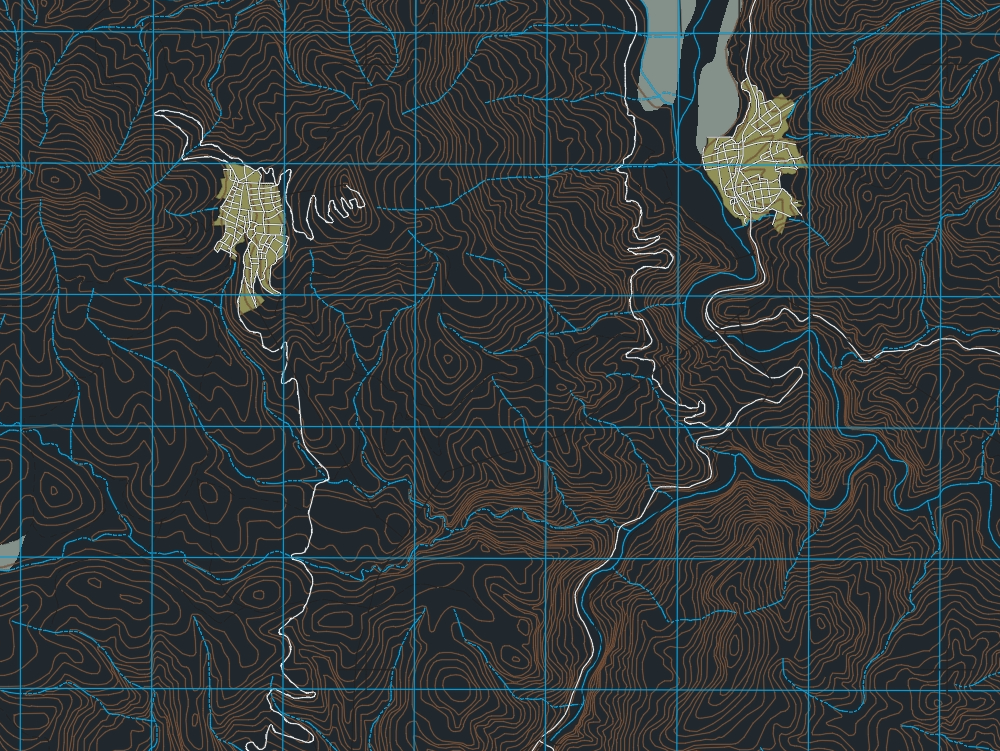 Hydrological map of tlapa de comonfort