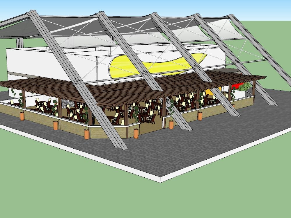 Restaurant 3d modeling architecture