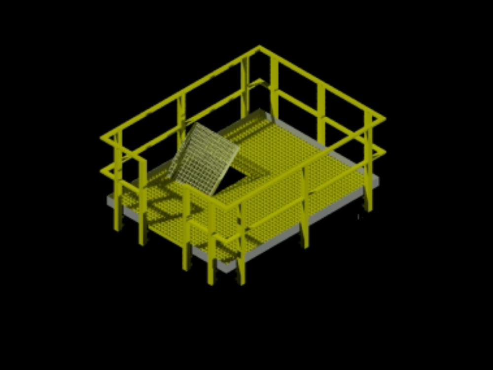 Access platform to gearboxes