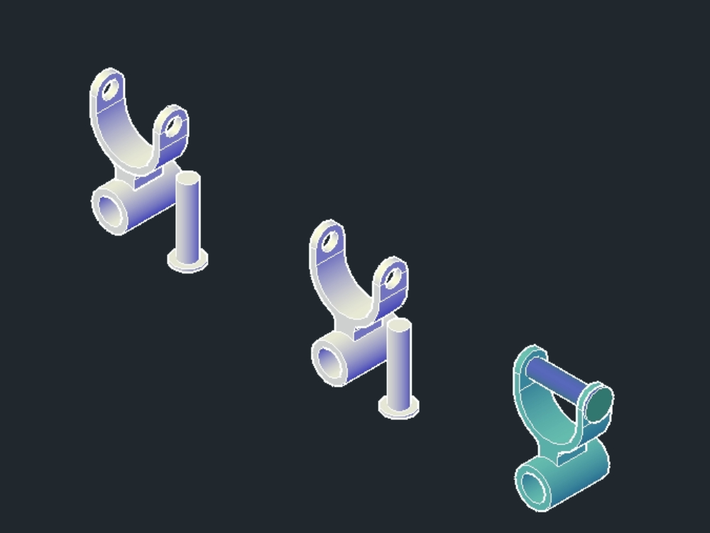 3d modeling. pieces; assembly of the model.