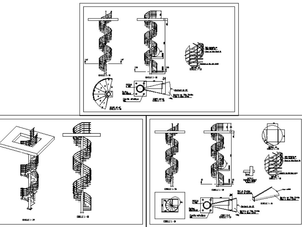 Escaleras metálicas de emergencia colimacon