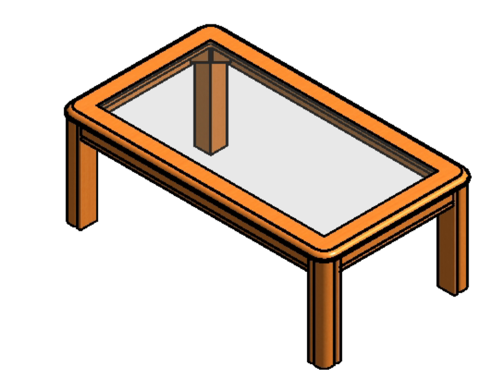 Family table compact design for living room