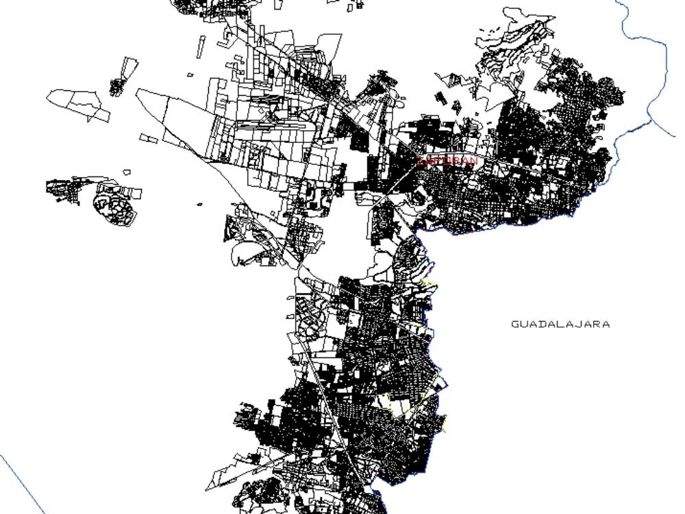 Urban layout map zapopan; jalisco