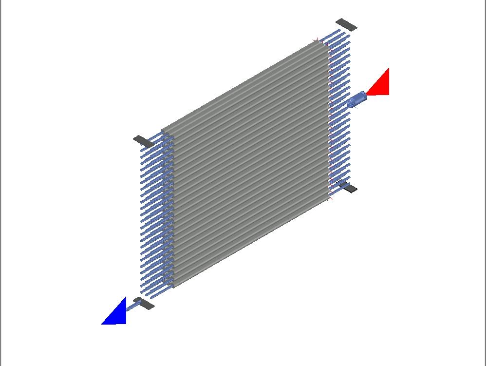 Radiador de tubos aleteados para enfriamiento de agua; sistema refrigerante aislado