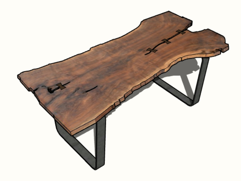 2.00mx 0.90m parota table
