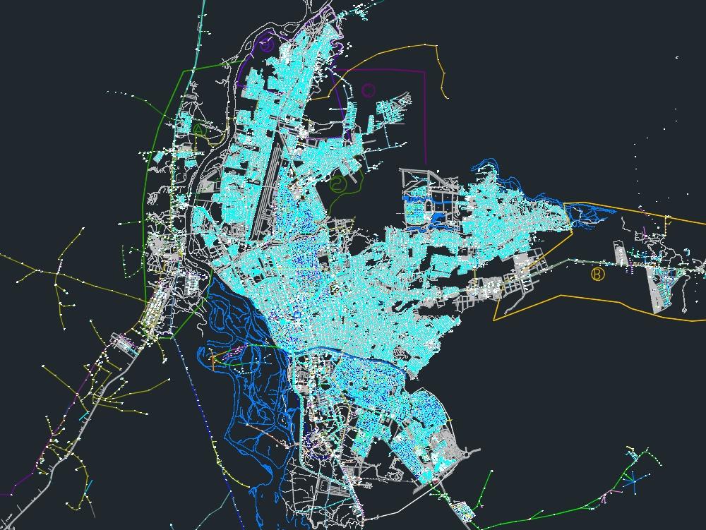 Redes de media y baja tensión de la ciudad de neiva