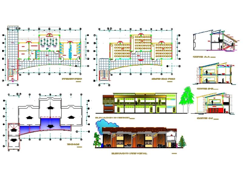 Proyecto arquitectónico de instituto superior