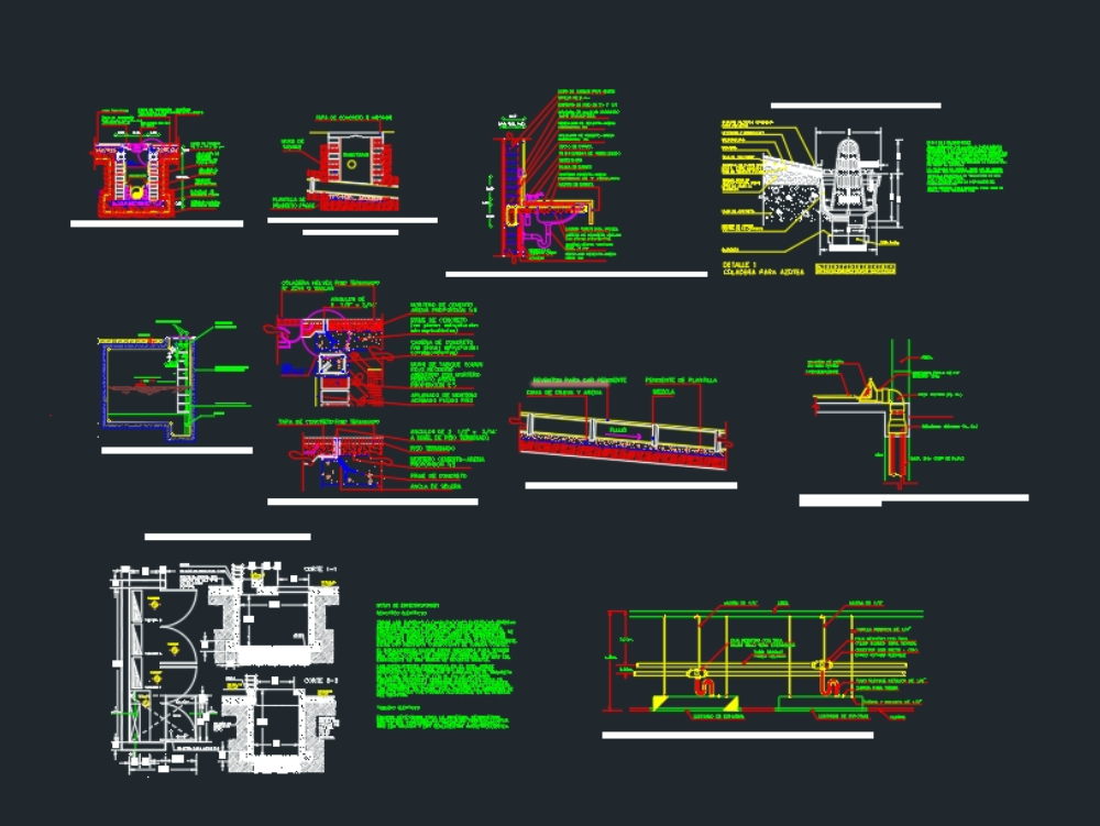 Sanitary details in accommodated dwg
