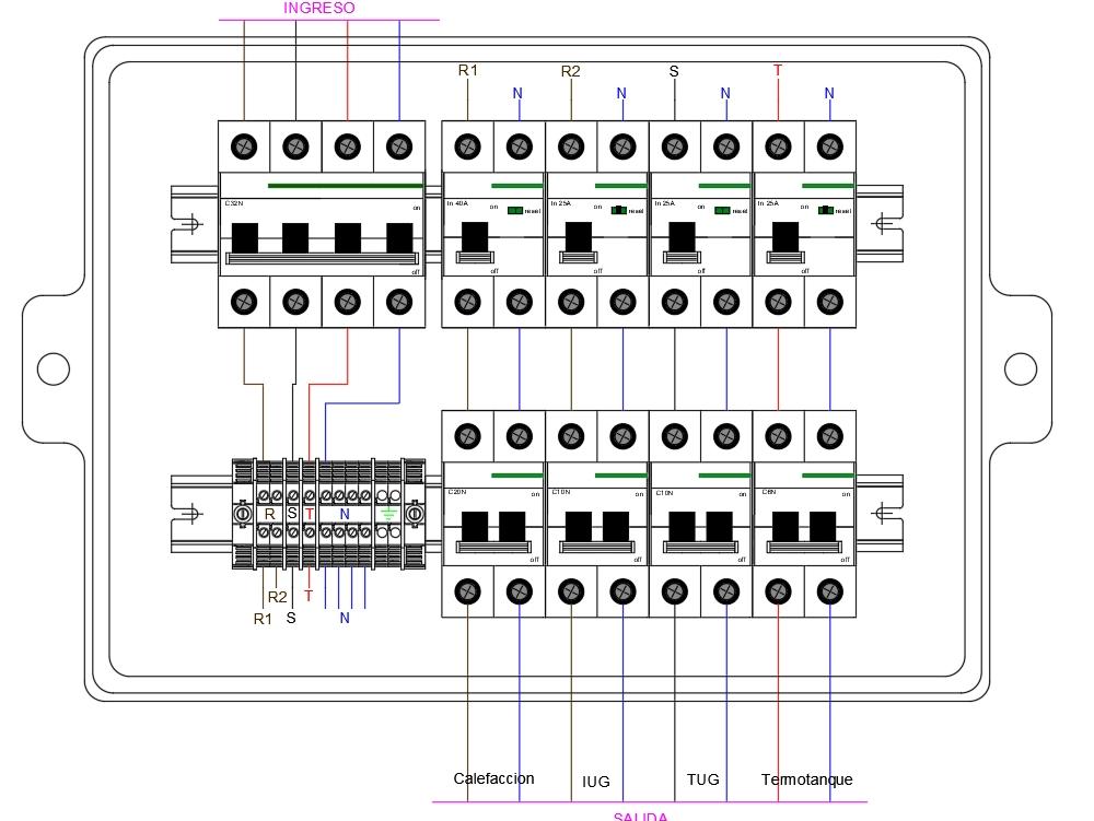 Three-phase home panel - single-phase