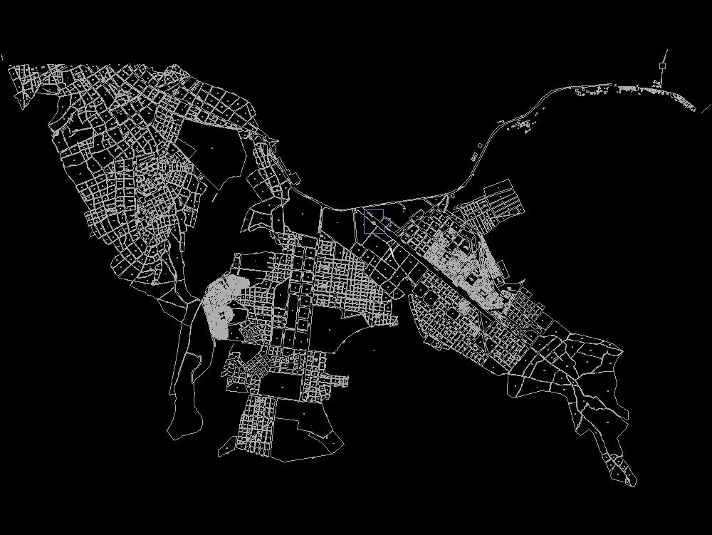 Cadastral map puno - city of puno