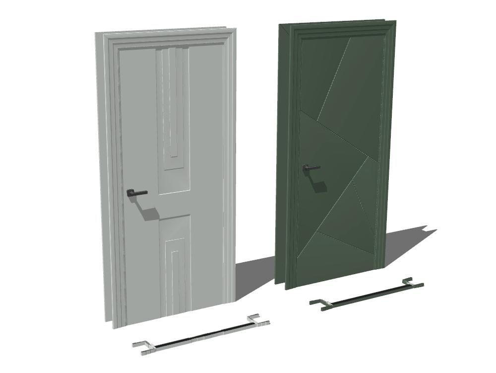 Puerta 3d prefabricadas con materiales