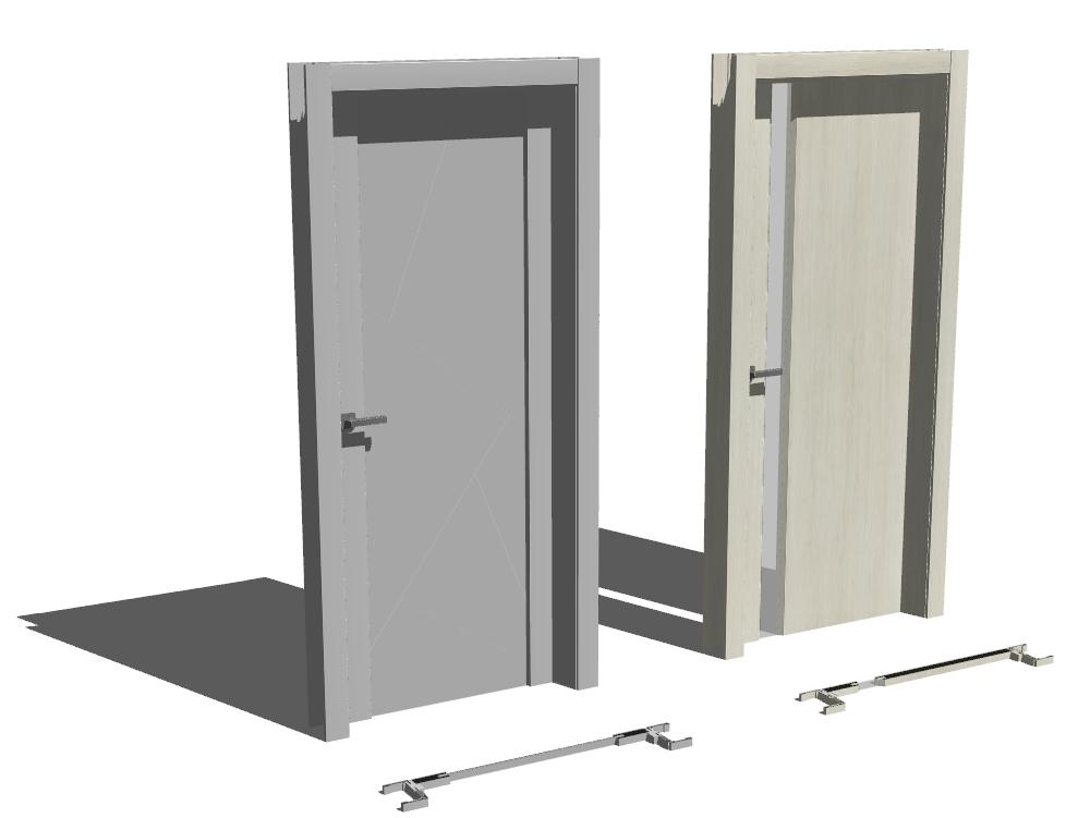 3d door prefabricated with materials