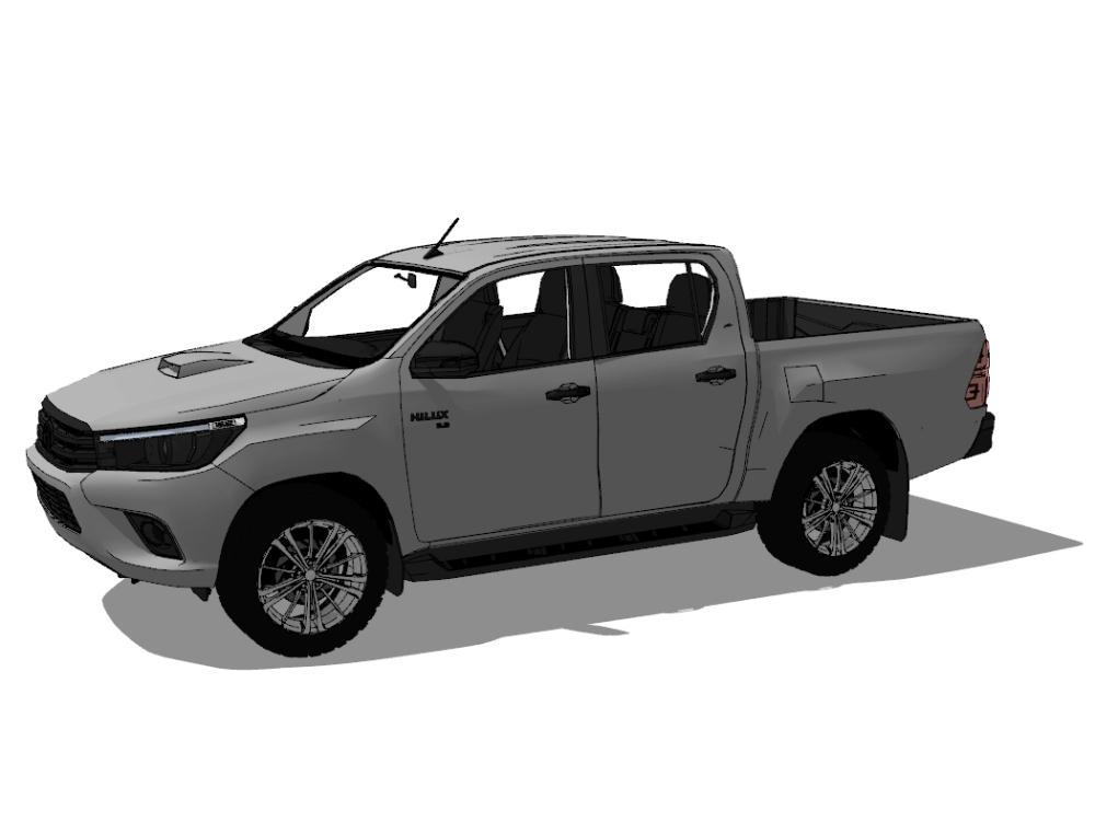 Toyota hilux 2016 3d pick up model.