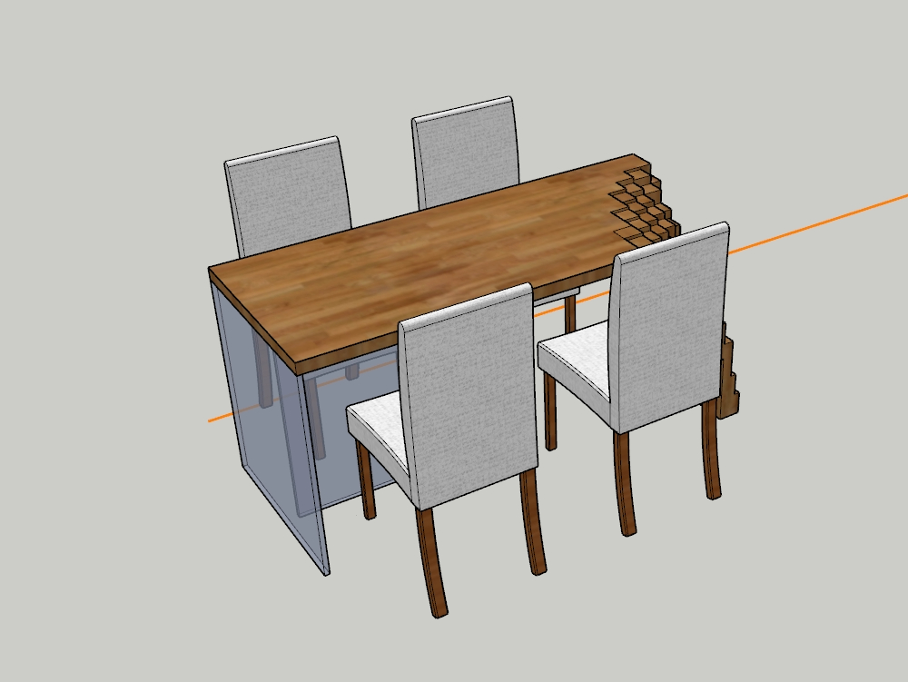 Cube table; for dining rooms and / or living rooms.-
