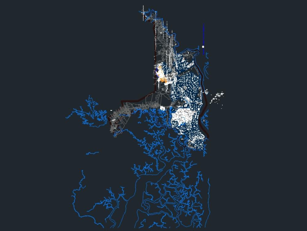 Disño de un mapa ciudad de guayaquil