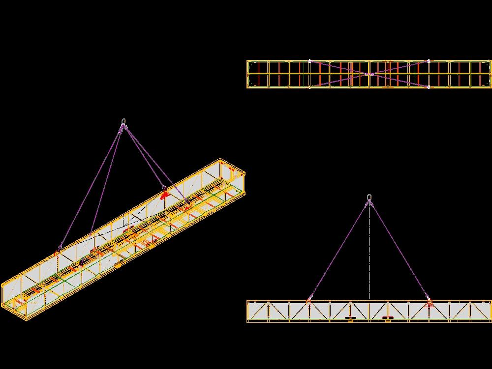 Canastilla de embarque para materiales offshore