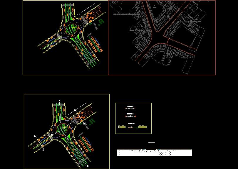 Proposal of road interchange in av. larco and av. America