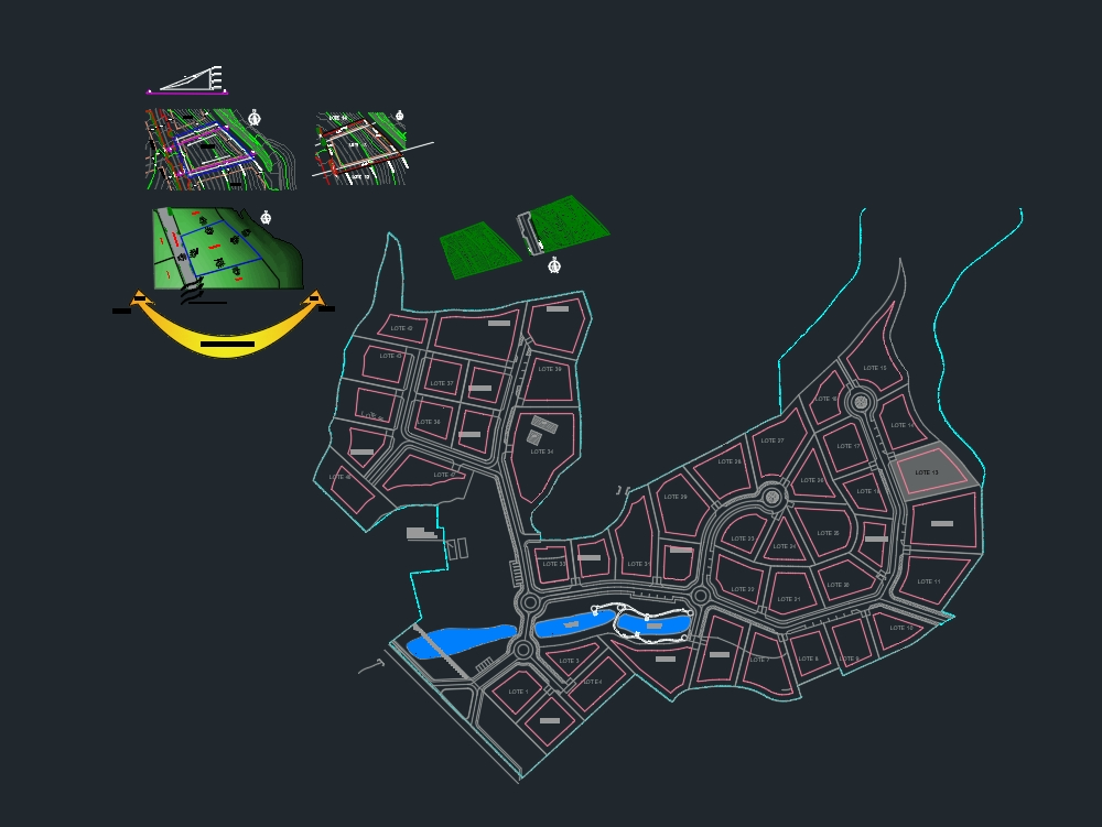 2d and 3d terrain autocad with analysis