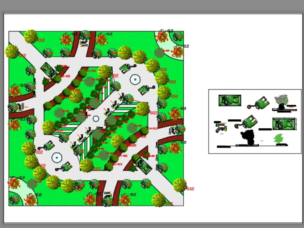 Urban park for city