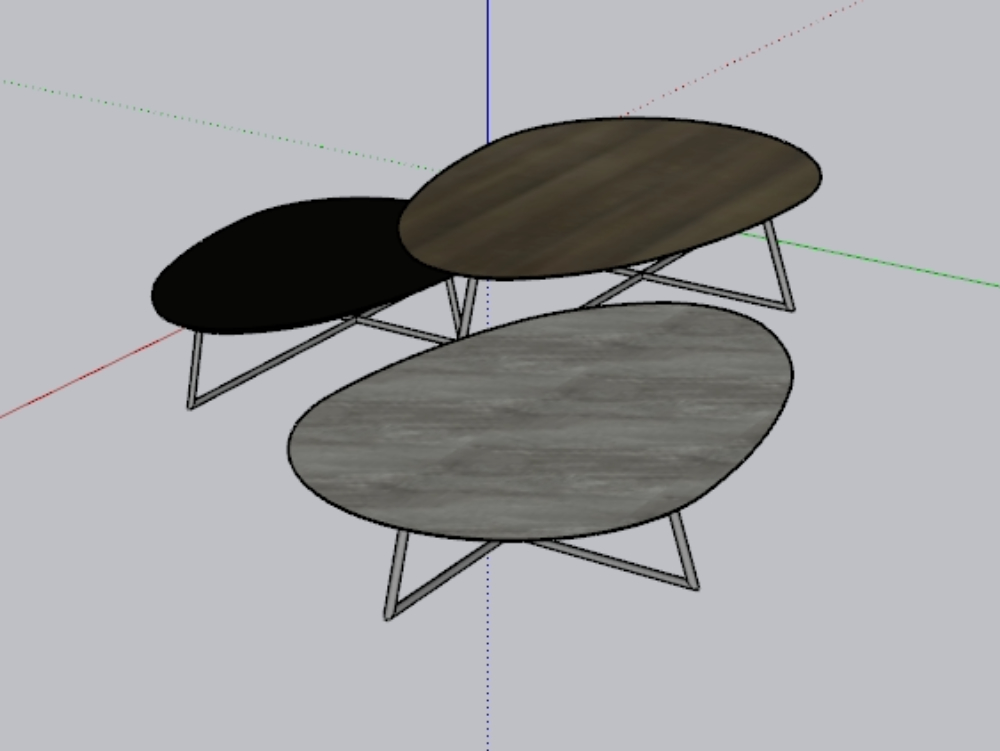 Center table; set of 3 tables for living room.