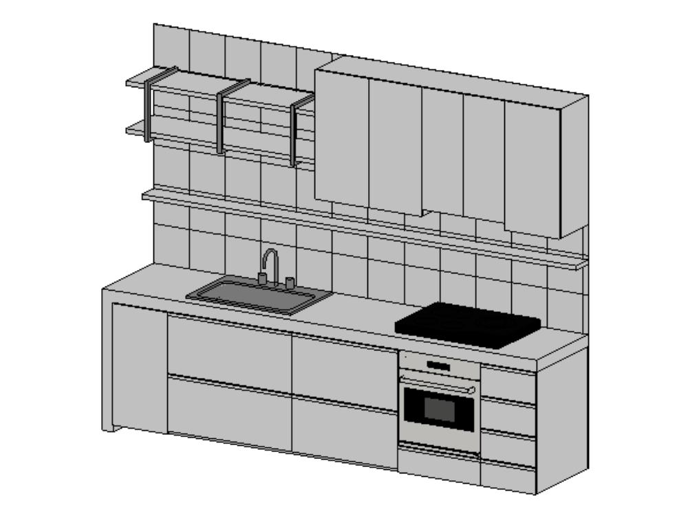 Integral kitchen revit