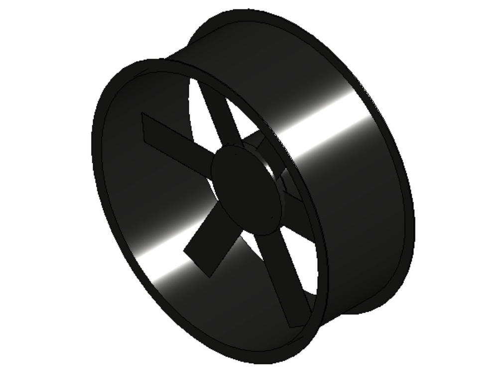 Axial tubular fan