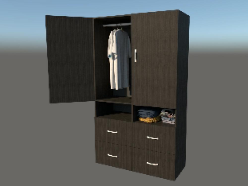Wardrobe in sketchup