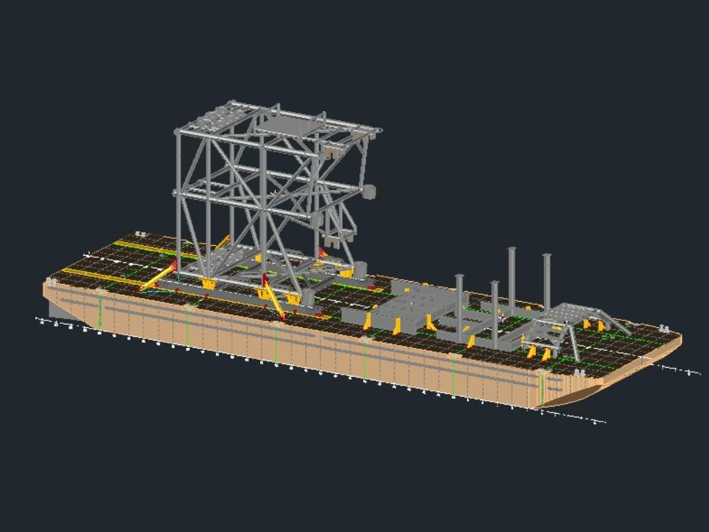 Attached substructure arrangement xikin-a