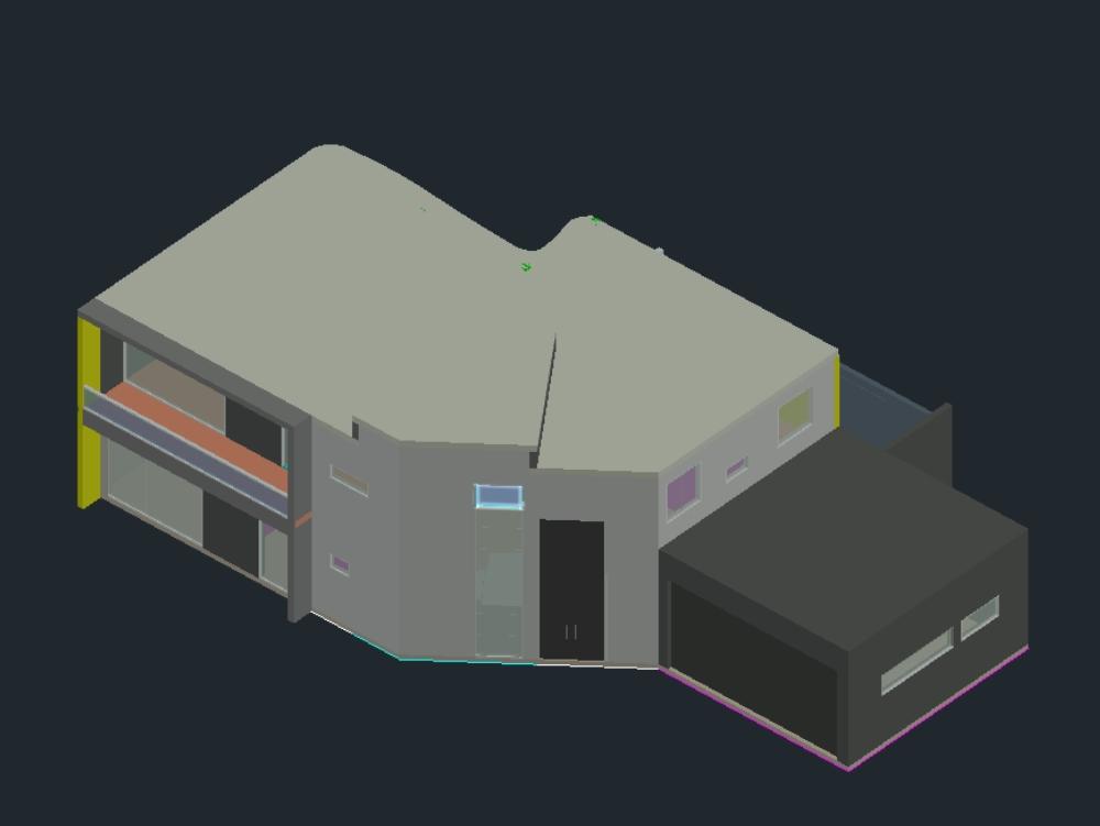 3D unbekanntes Zuhause