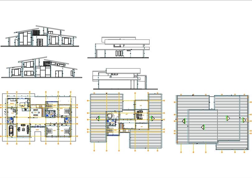 Casa moderna planos fachadas cotas