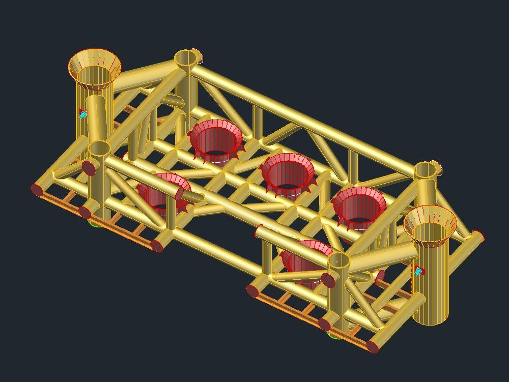 Estructura de templete submarino hok-a