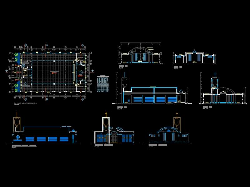 Proyecto arquitectónico de una capilla