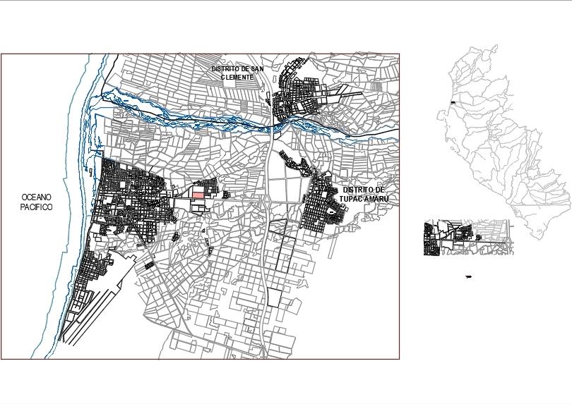 General planimetry of location p
