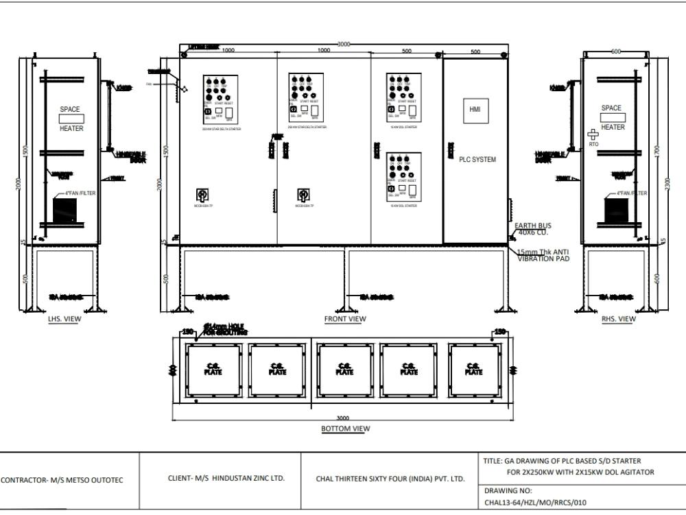 Dibujo de plc para dibujos eléctricos y de instrumentación