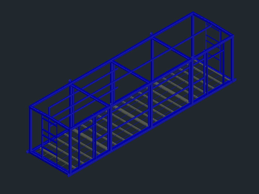 Mechanical structure of a 3d shelter
