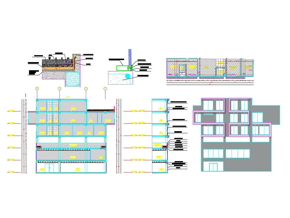 Building facade section