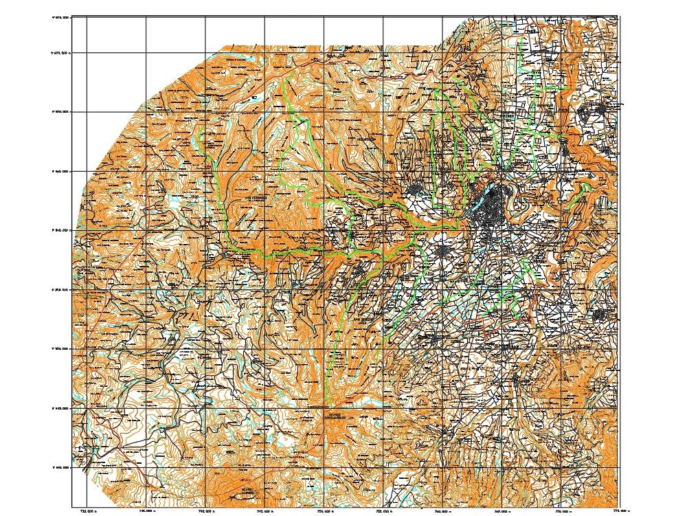 Georeferencing map tungurahua ambato