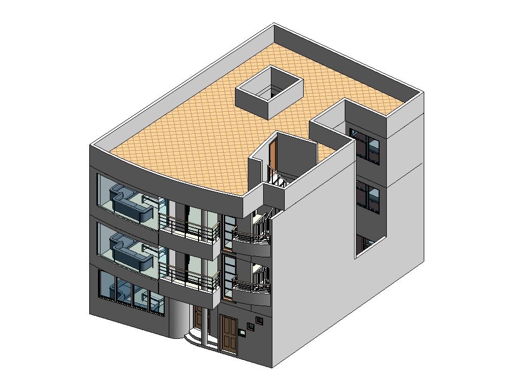 3d house project three floors