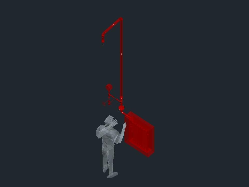 Gabinete de agua contra incendios