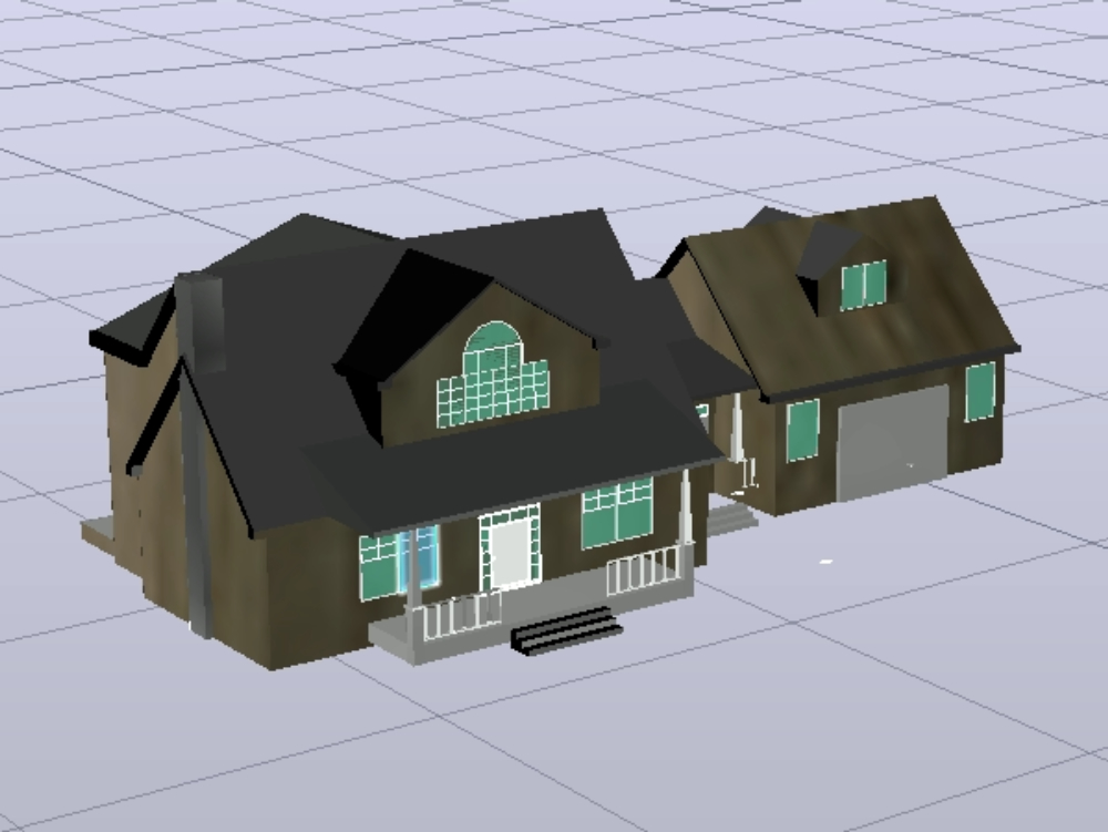 Plan of an old house in three dimensions
