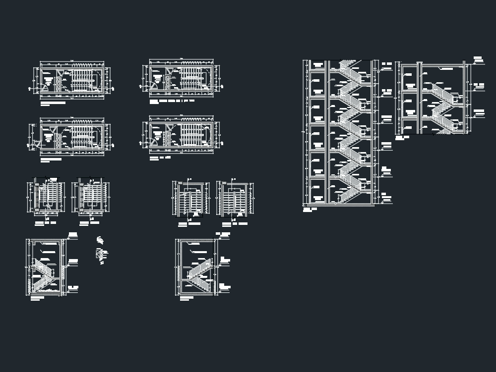 Detalle arquitectónico de escalera